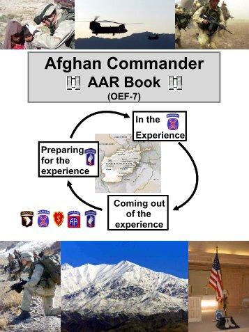 Afghan Cdr AAR Book - Company Command - U.S. Army