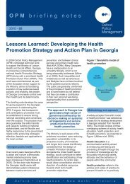 Developing the Health Promotion Strategy and Action Plan in Georgia