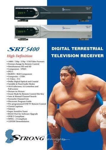 DIGITAL TERRESTRIAL TELEVISION RECEIVER - Sydney Hi-Fi