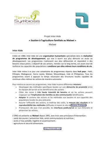 Projet Inter Aide « Soutien à l'agriculture familiale ... - Terra Symbiosis