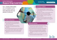 Positive Relationships: Learning - Early Years Matters