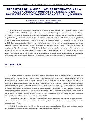 RESPUESTA DE LA MUSCULATURA RESPIRATORIA ... - Neumosur
