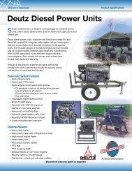 Deutz Diesel Power Units - Stewart & Stevenson