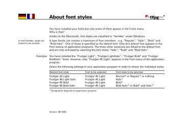 About font styles - Linotype