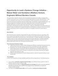 Systems Change Leader - Engineers Without Borders Canada