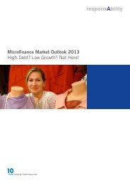 Microfinance Market Outlook 2013 High Debt? Low ... - responsAbility