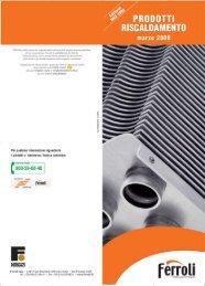 catalogo prodotti 2008 - Certificazione energetica edifici