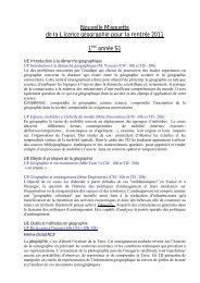 Nouvelle Maquette de la Licence géographie pour la rentrée 2011 1 ...