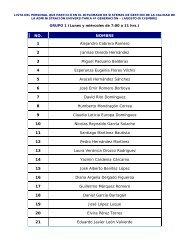 Lista del personal que concluyó el Diplomado Generación 4 / 05.02.09