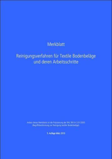 Merkblatt - Carpet Concept Objekt-Teppichboden GmbH