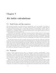Ab initio calculations