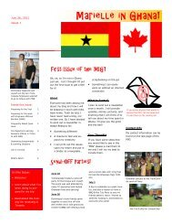 Issue 1 - Engineers Without Borders - Calgary City Chapter