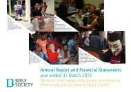 Bible Society Annual Report 2012