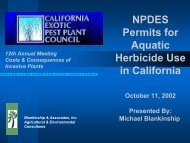 NPDES Permits for Aquatic Herbicide Use in California - Cal-IPC