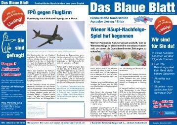 Wiener Häupl-Nachfolge- Spiel hat begonnen FPÖ ... - Liesing - FPÖ