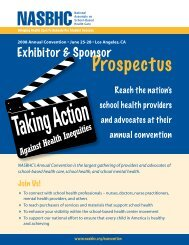 Reach the nation's school health providers and advocates at their ...