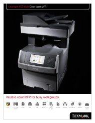 Intuitive color MFP for busy workgroups - Lexmark