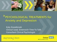 Psychological Treatments for Anxiety and Depression - Katy ...
