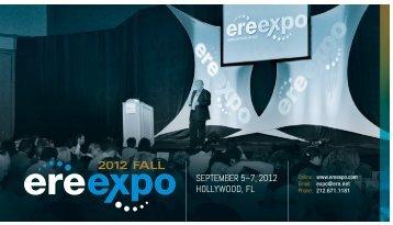 SEPtEmbEr 5–7, 2012 HOLLYWOOD, FL - ERE.net