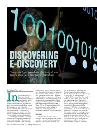 Discovering E-Discovery