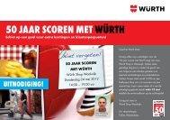 50 jaar Scoren met WÜrtH - Würth Nederland