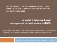 Les décideurs et gestionnaires : des acteurs essentiels ... - CRI-VIFF