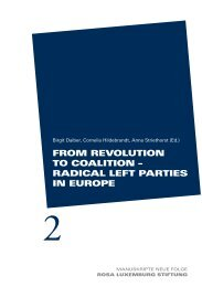 radiCal leFt Parties in euroPe - Rosa-Luxemburg-Stiftung