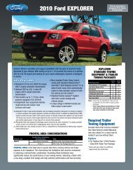 Ford 2010 Explorer Towing Guide