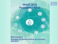 HelsIT 2010 Pasienten i fokus