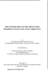 The Other Side of the Mountain: Mujahideen ... - Tribal Analysis Center