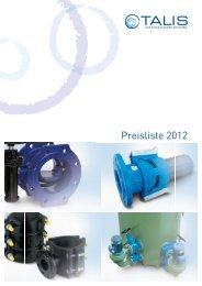 Preisliste 2012 - STRATE Innovative Abwassertechnologie