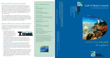 at a glance - Gulf of Maine Council on the Marine Environment