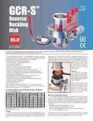 GCR-S™ Reverse Buckling Disk - BS&B Safety Systems