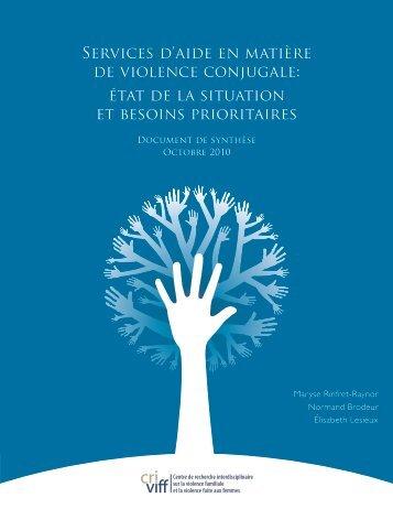 Services d'aide en matière de violence conjugale: état de ... - CRI-VIFF