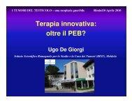 Terapia innovativa: oltre il PEB? Relatore: Dr ... - Oncologia Rimini
