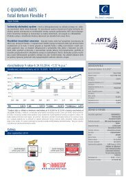 C-QUADRAT ARTS Total Return Flexible T Popis fondu