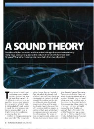 A SOUND THEORY - Membrane