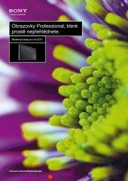 Přehled displejů SONY 2011 ke stažení. - ELVIA Display