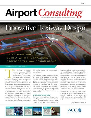 Innovative Taxiway Design - ACConline.org