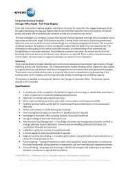 Corporate Business Analyst Chicago-Office Based - Full ... - Event 360