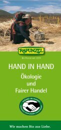 HAND IN HAND - Rapunzel Naturkost AG