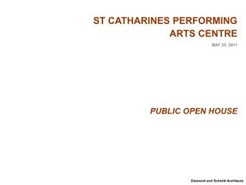 to view the architect's open house presentation - City of St.Catharines