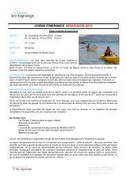 CORSE ITINERANCE NOUVEAUTE 2013
