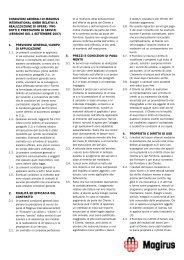 Condizioni generali di Magirus International GmbH relativi a