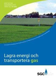 Lagra energi och transportera gas - SGC