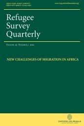 Front Matter (PDF) - Refugee Survey Quarterly