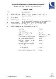 Mainair Blade 912S - Civil Aviation Authority