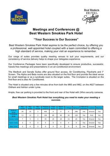 Conference Brochure - BEST WESTERN Hotel Smokies Park ...