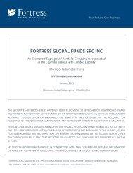 Offering Memorandum - Fortress Global Funds SPC Inc.