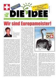 Wir sind Europameister ! - Zeitung DIE IDEE